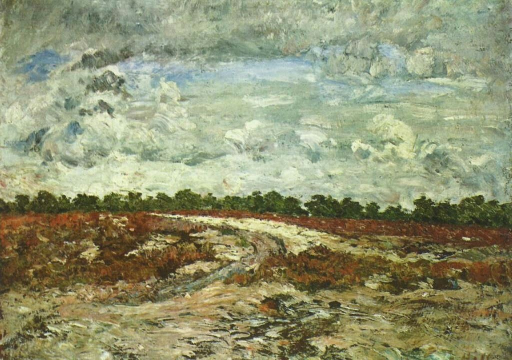 Landschaftsmalerei impressionismus  Carl Fredrik Hill. Einöde. 1876, Leinwand, 54 × 73 cm. Stockholm ...