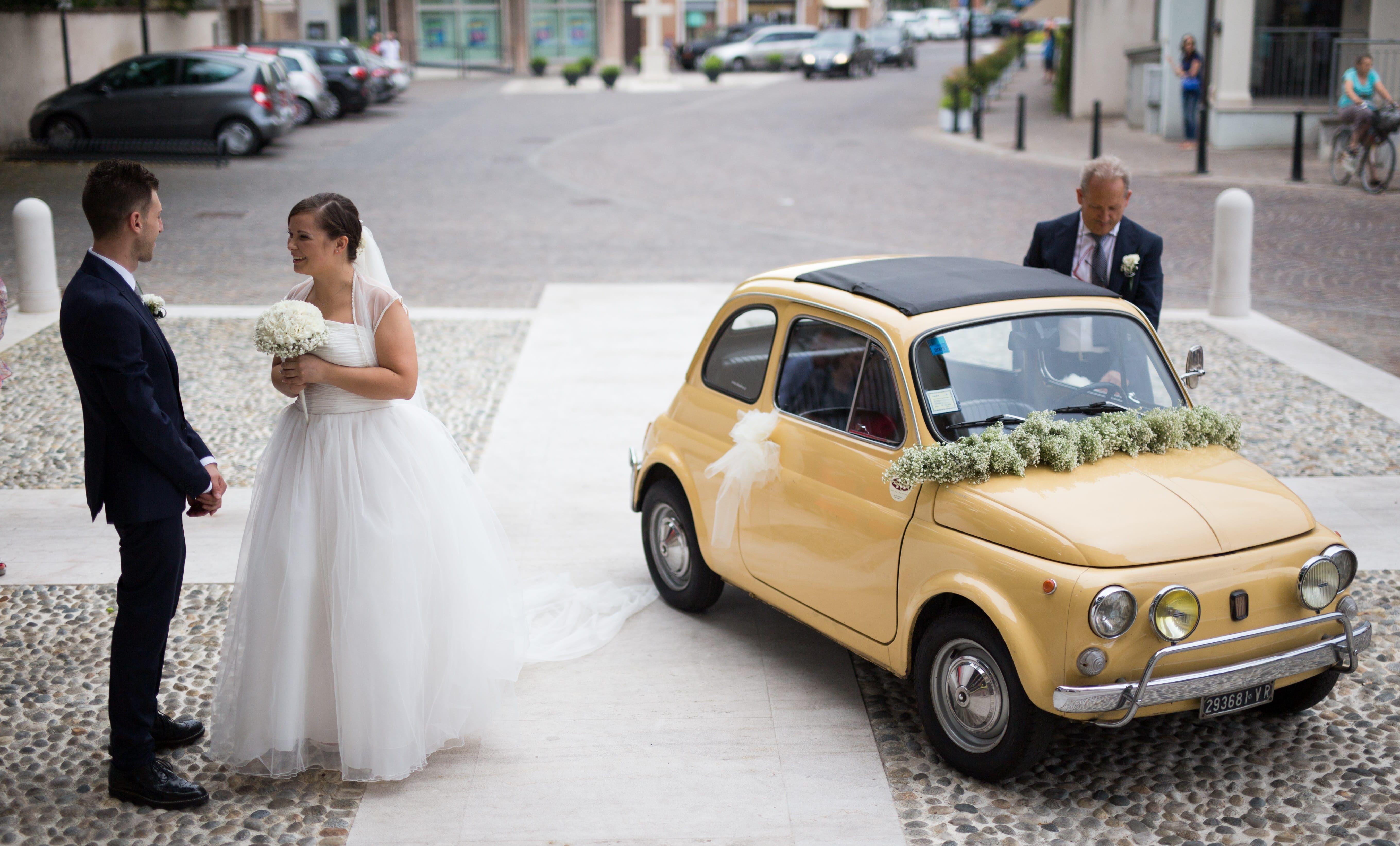 Wedding Fiat 500l Slow Drive Vintage Car Rental Self Drive