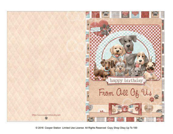 Digital Printable Birthday Greeting Card