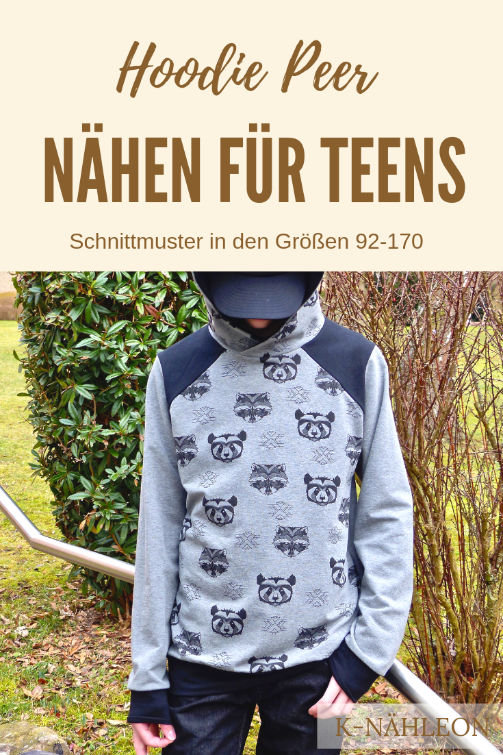Nähen für Teenager Jungen (und Mädchen). Hoodie Peer ist