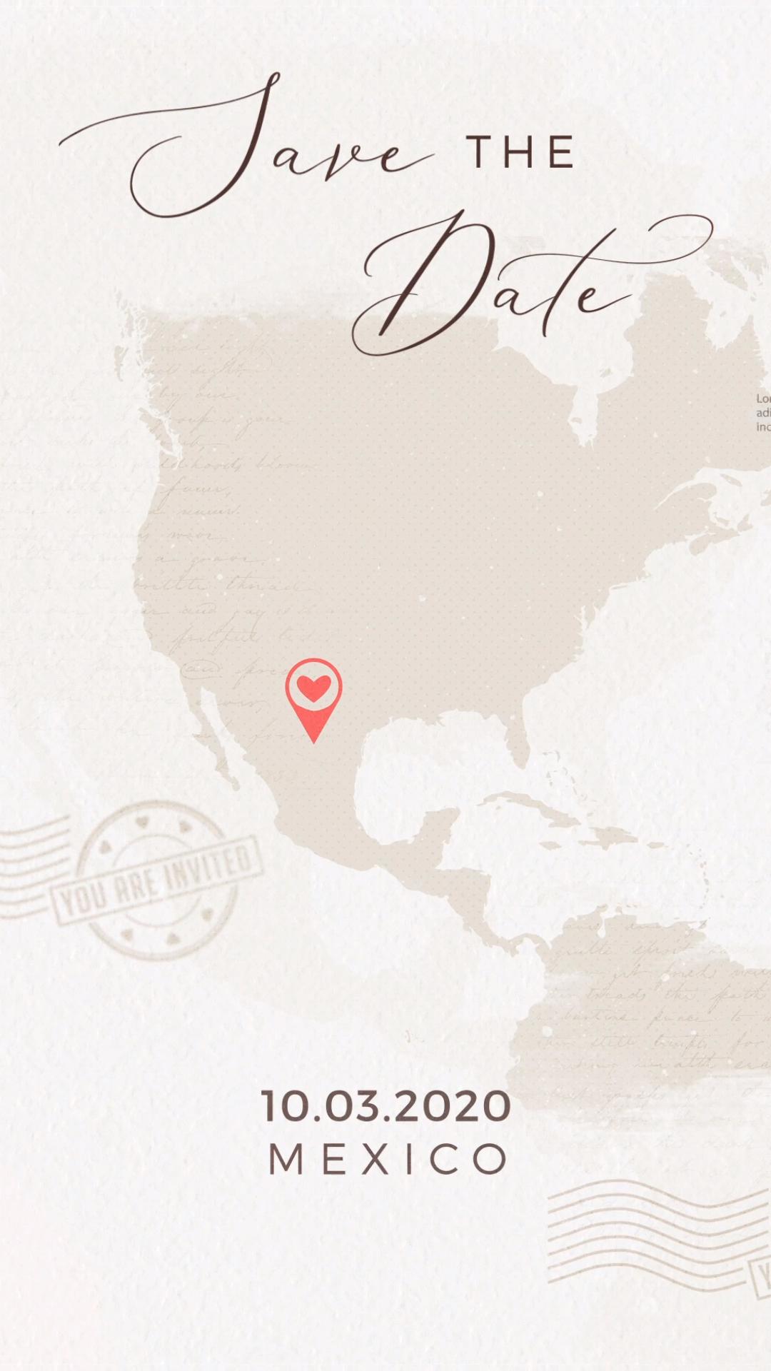 Destination Save the Date Video Invitation -   15 wedding Design couple ideas