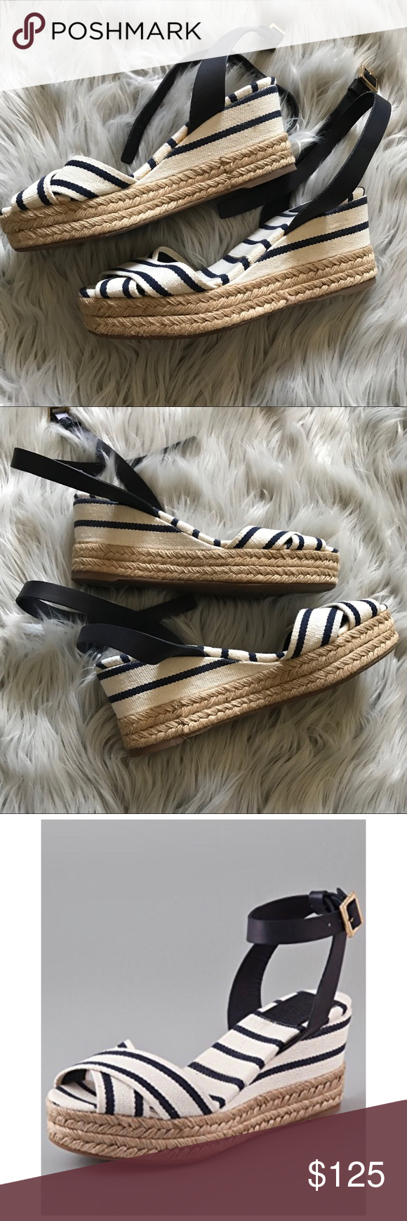 67e777beca6 TORY BURCH Karissa Wedge Espadrille Sandals Authentic Tory Burch Karissa  Wedge Sandals. Size 8.