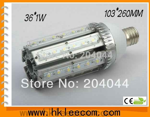154.50$  Buy now - http://alizkt.worldwells.pw/go.php?t=1638806055 - 2015 free Shipping 3 Pcs Lot 36 1 W Street Light E26/27 E40 Led Base Rotation 360 Degress Ac85-265v Input Voltage Ip54 Ce Rohs