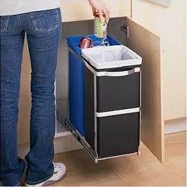 Undercounter Recycling Bins Google Search Recycle Trash Kitchen Trash Cans Trash Can Cabinet
