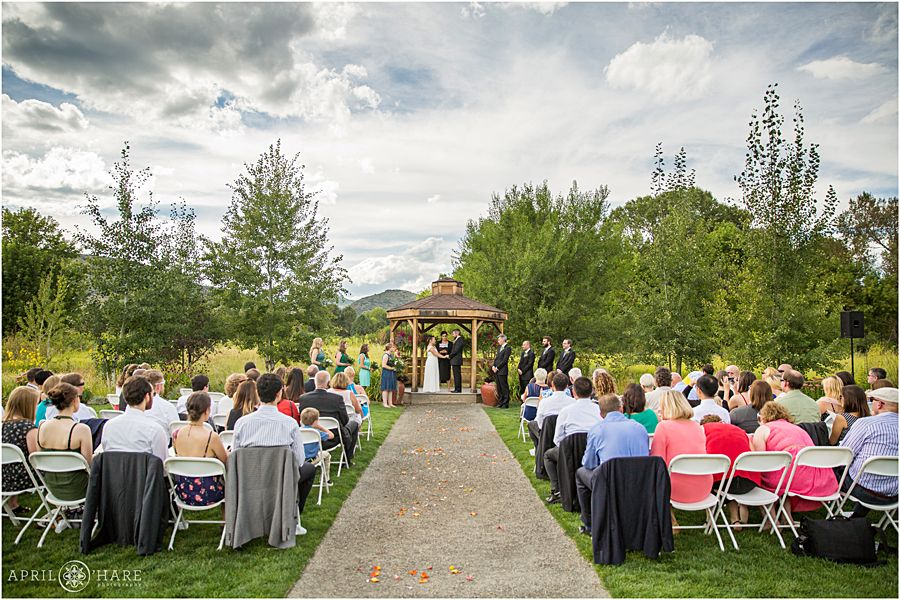 A Nice Day For An Outdoor Wedding At Chatfield Botanic Gardens In Colorado  Open Air Field