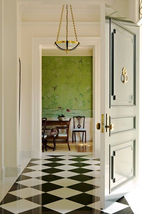 Are You Ready To Decorate With Apple Green Checkered Floors