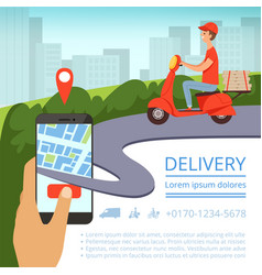 Food Delivery App Concept Royalty Free Vector Image In 2020