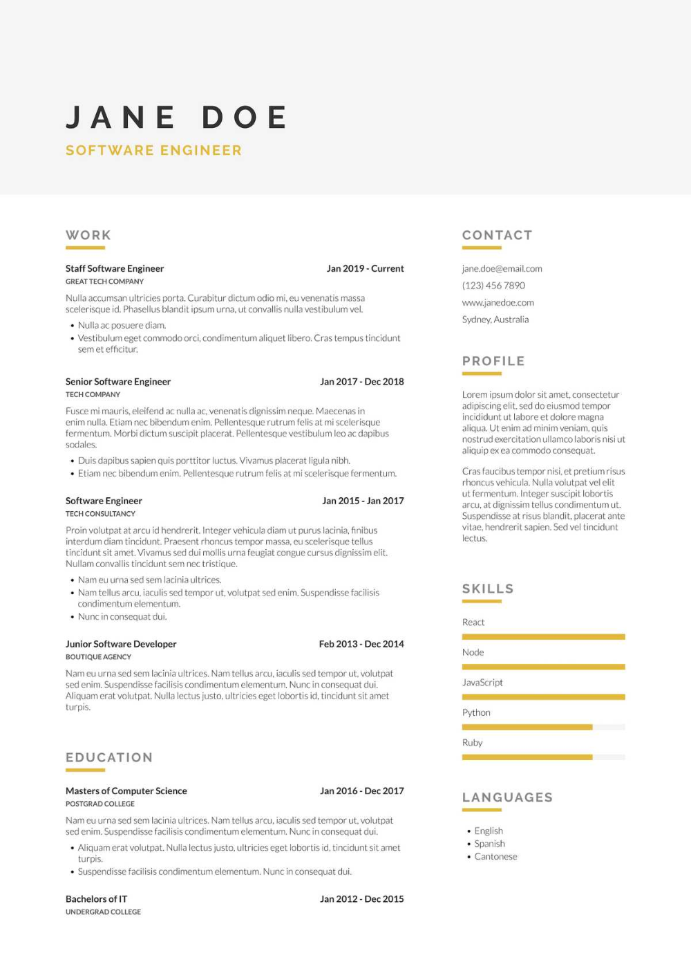Build better resumes · ippy.io in 2020 Career planning