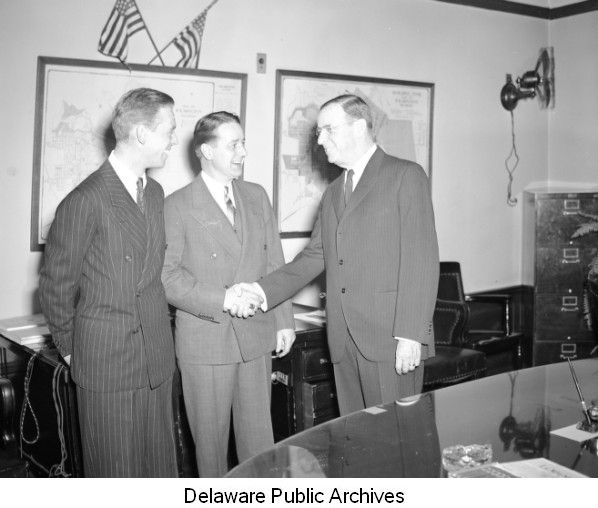 10abf74ee Walter Bacon and Bayard Sharp, January 16, 1941. Albert James was a partner  in Wilmington law firm Hering, Morris, ...
