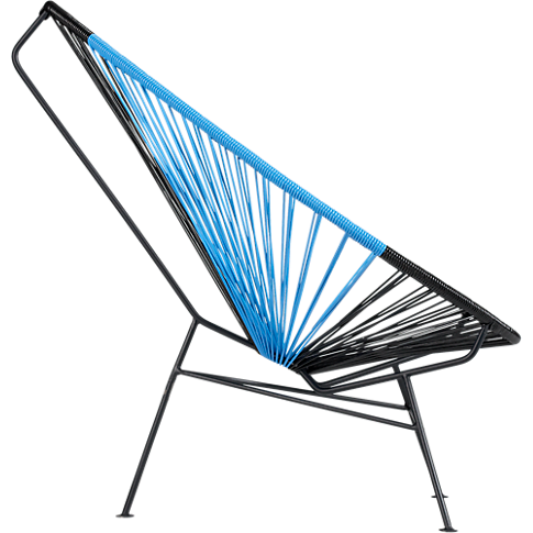 acapulco black/blue lounge chair in outdoor furniture ...