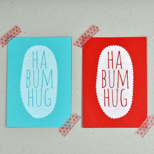 Ha Bum Hug Christmas Card Set More postcards  mail Pinterest