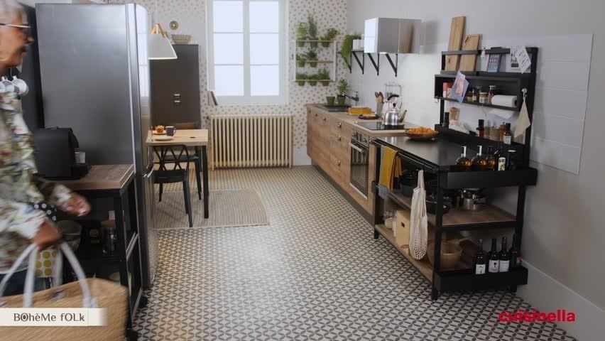 Cuisine Equipee Design En Lineaire Vega Bois Et Metal