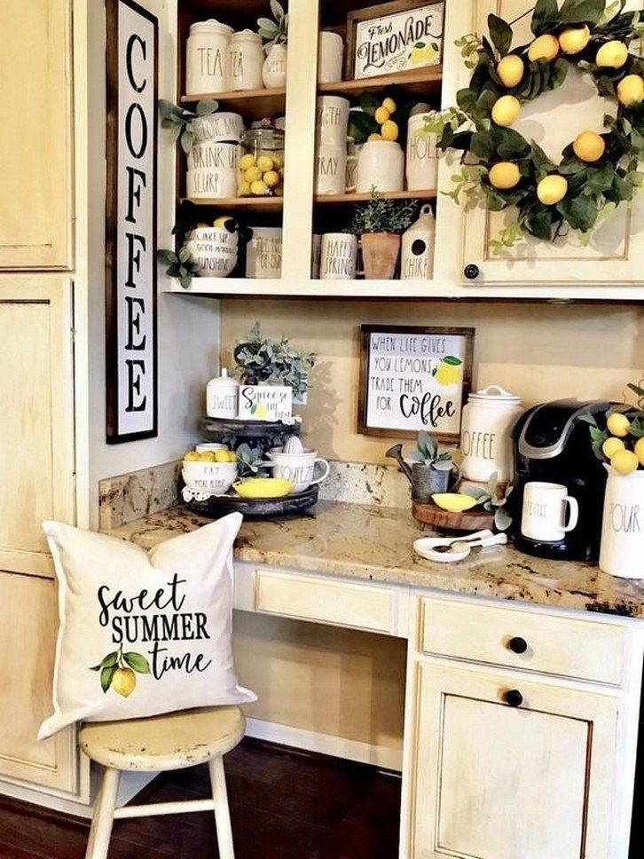 89 creative hobby lobby farmhouse decor ideas 67 coffee bar home summer home decor lemon on kitchen decor themes hobby lobby id=35258