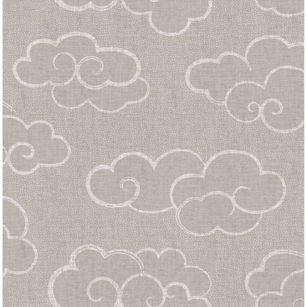 Skylark Taupe Cloud Wallpaper