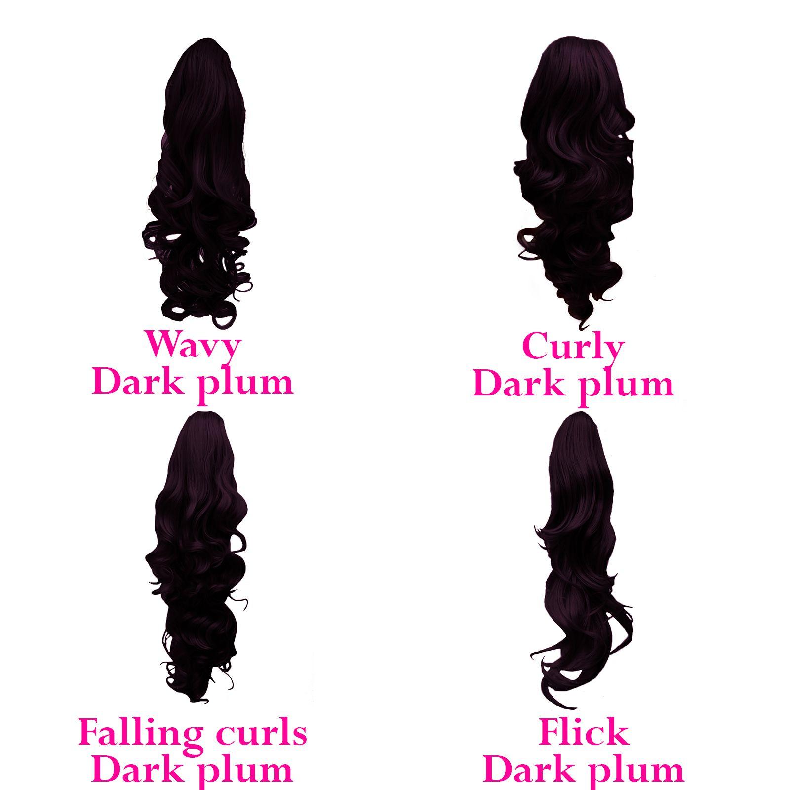 Ponytail Clip In Hair Extensions Dark Plum 99j 1 Hair Extensions Ponytail Pl In 2020 Hair Extensions For Short Hair Clip In Hair Extensions Ponytail Extension