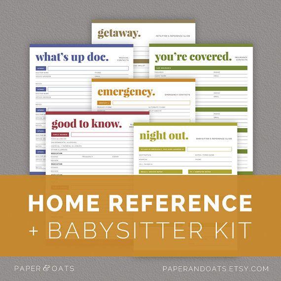 family planner binder mom planner pdf household binder babysitter