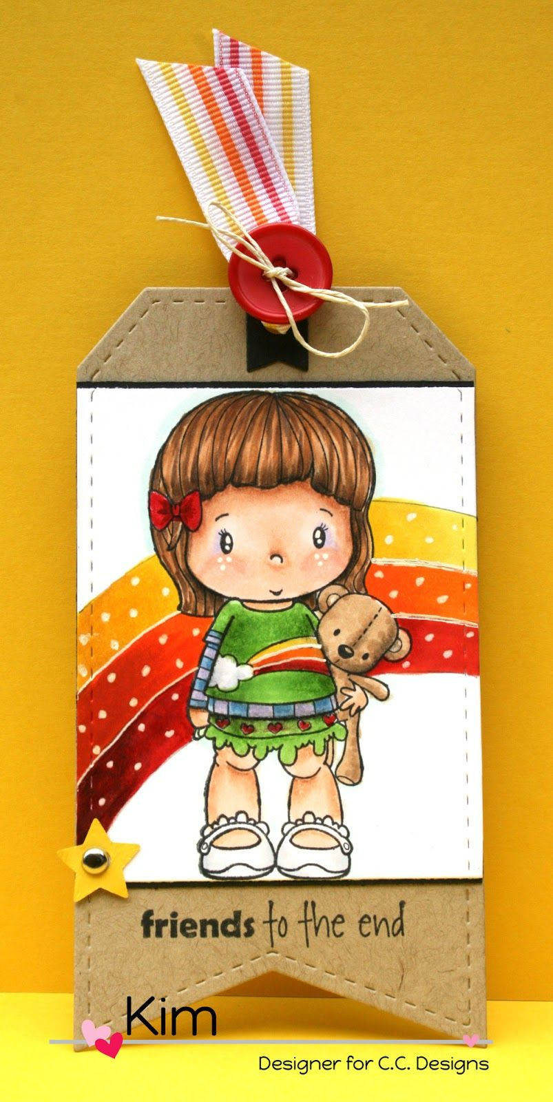Paper Perfect Designs—C.C. Designs Cutter Make a Tag #6 die set and the new Swiss Pixie Lucy with Teddy.