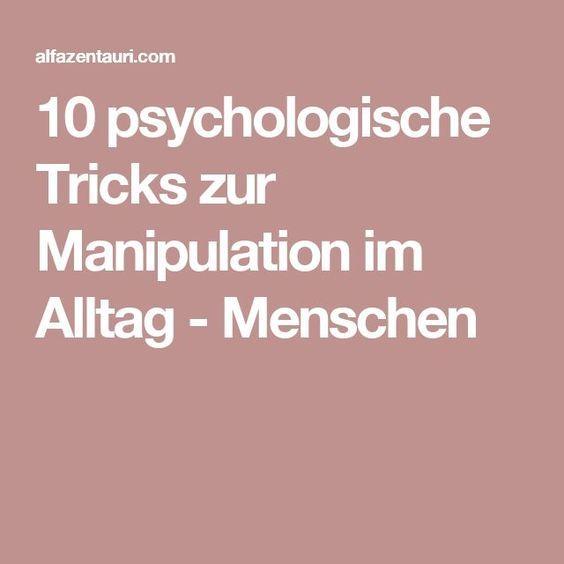 menschen manipulieren tricks