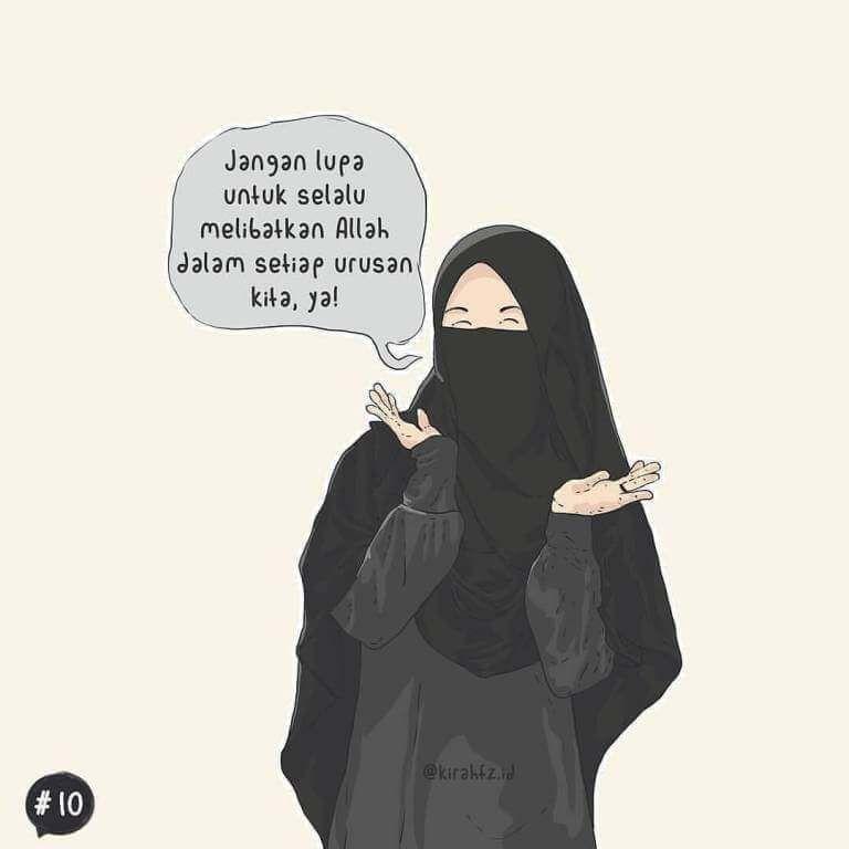 75+ Gambar Kartun Muslimah Cantik dan Imut (bercadar ...