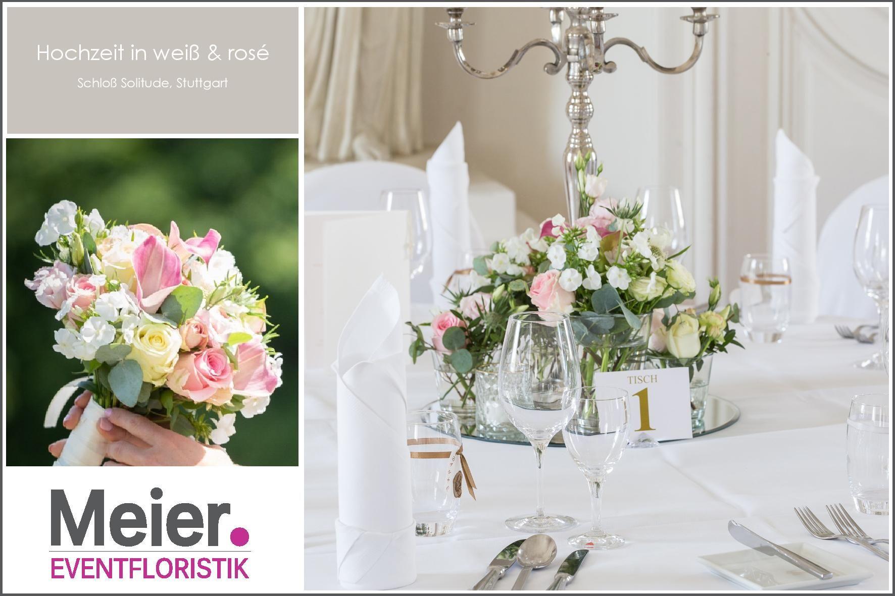 Hochzeit Mit Brautstrauss Tischdeko Co Auf Schloss Solitude In