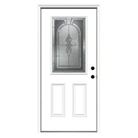 Reliabilt Decorative Inswing Fiberglass Entry Door Common