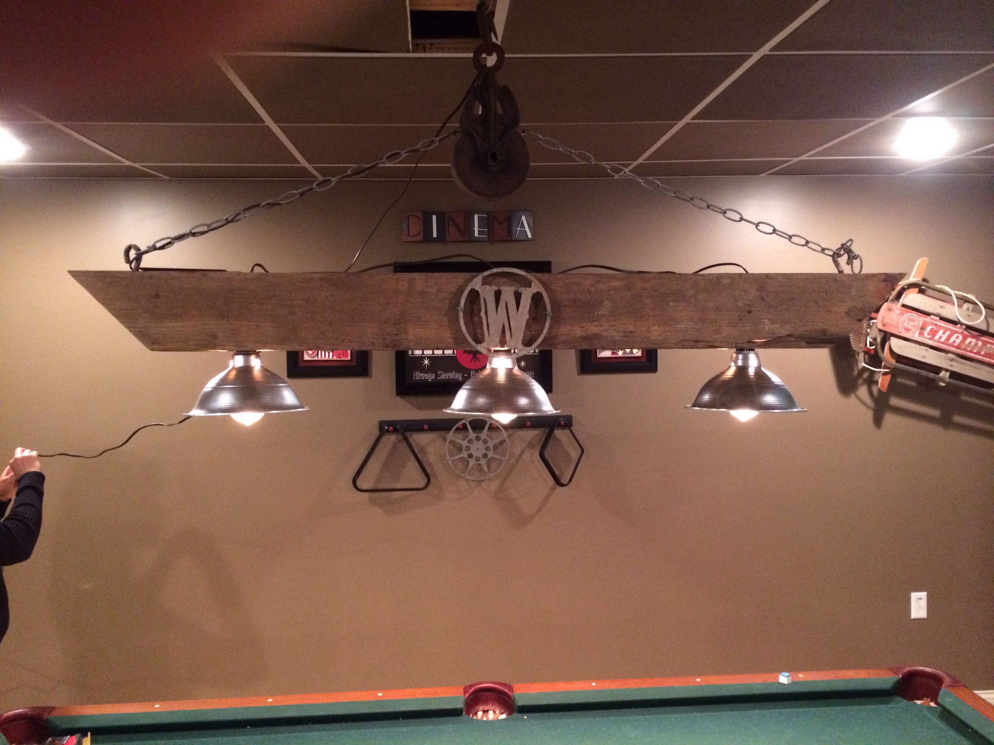 Pool table light project I just completed. Very happy with