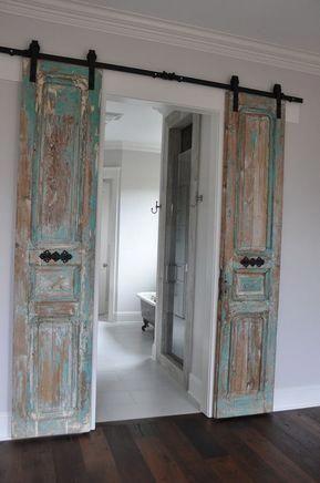 Decorative Barn Doors  Sliding Barn Door Lock  White Barn Door