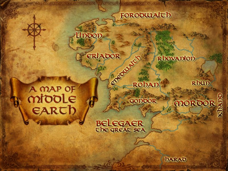hobbit map of middle earth Google Search – The Map of Middle Earth