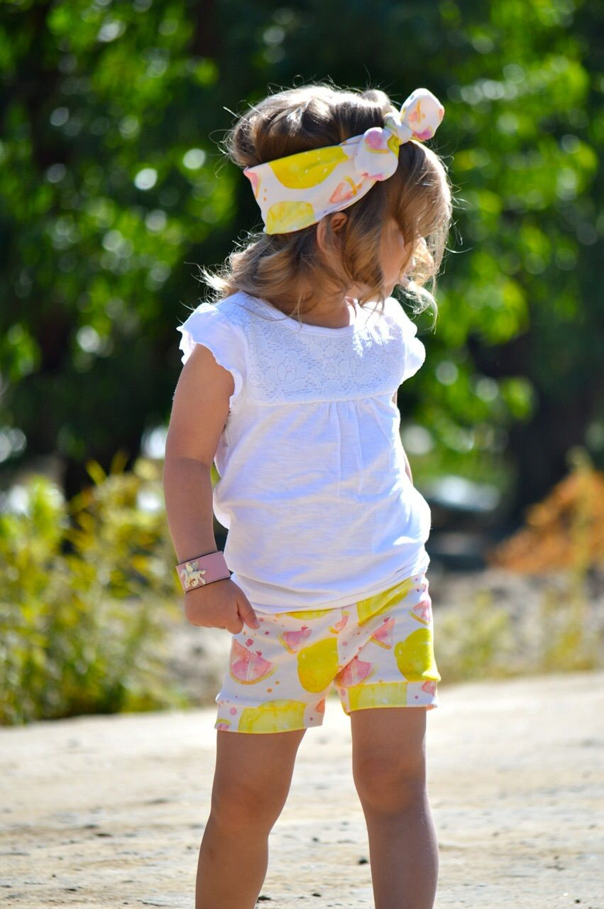 fun watercolor pink lemonade print on super soft 100% organic cotton. bubble shorts may vary slightly from picture as they are all handmade by me this fabric is not pre-shrunk and should be washed on the delicate cycle with phosphate free detergent to preserve the color.  tumble or hang dry.  b...