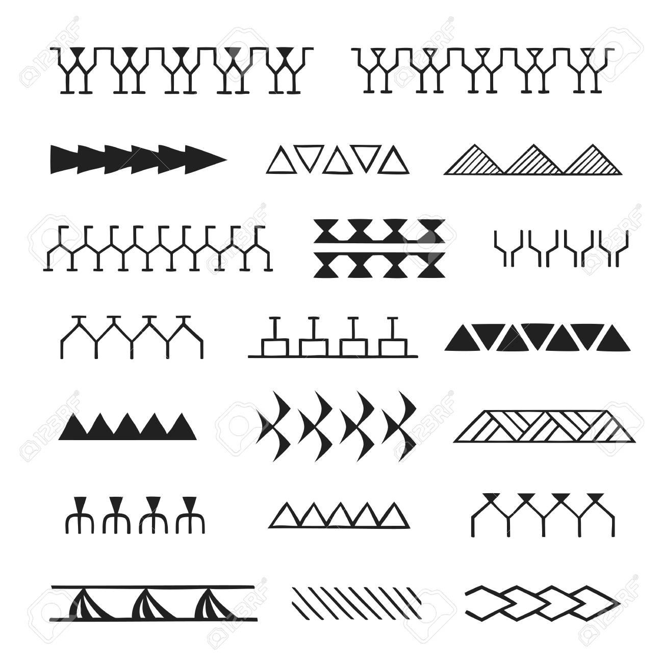 Vector Black Monochrome Ink Hand Drawn Native Polynesian Folk Polynesian Tattoo How To Draw Hands Polynesian Tattoo Designs