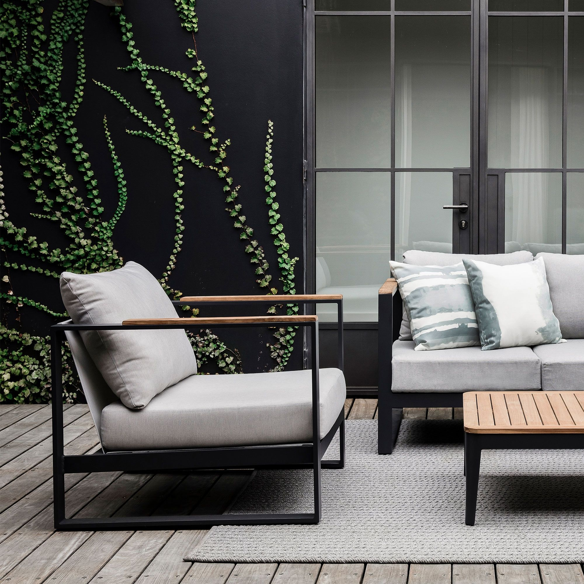 Barcelona Outdoor Armchair is part of Outdoor armchair - Contemporary and classic outdoor chair for comfortable seating