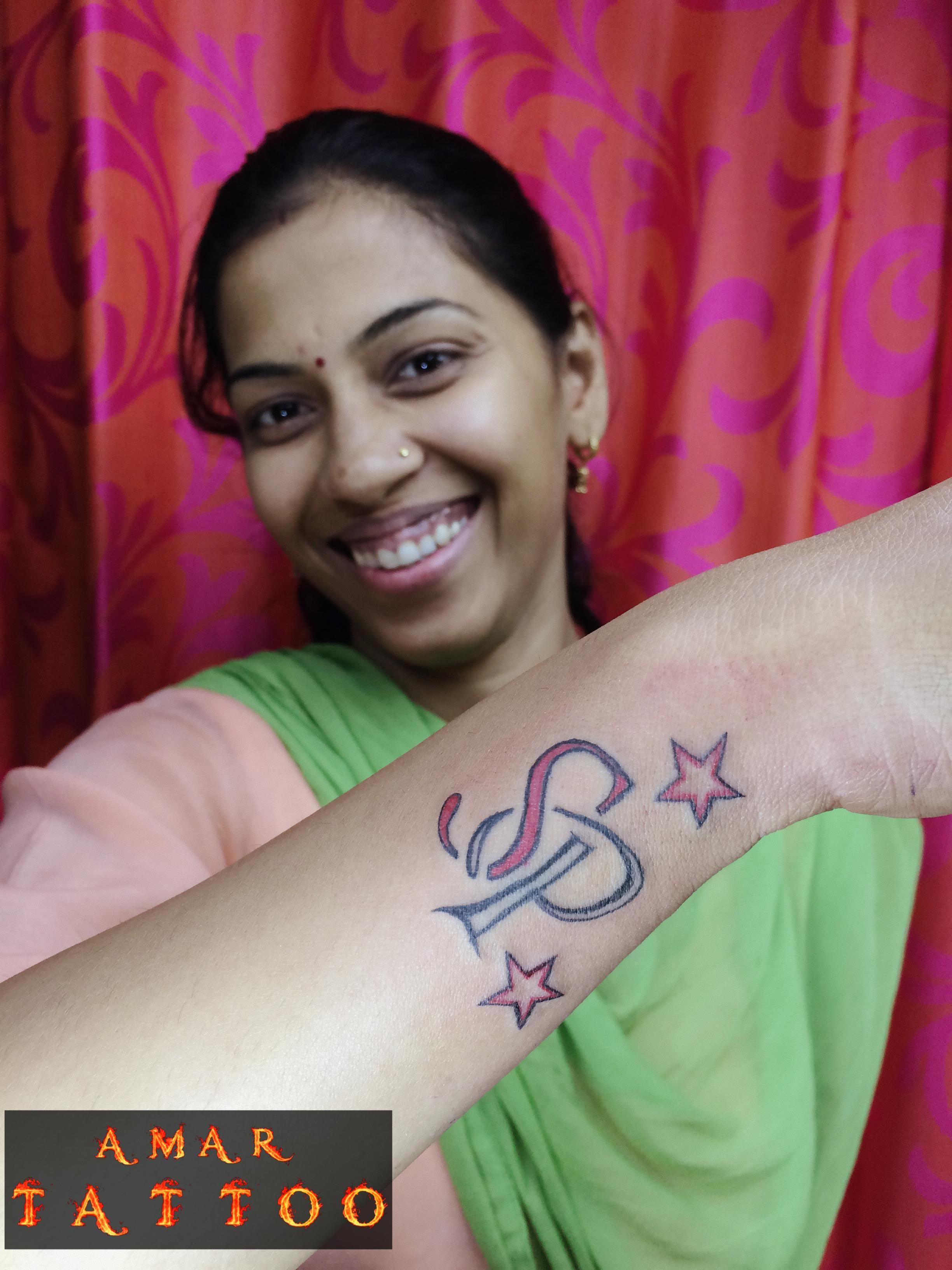 S P Name Tattoo Designs