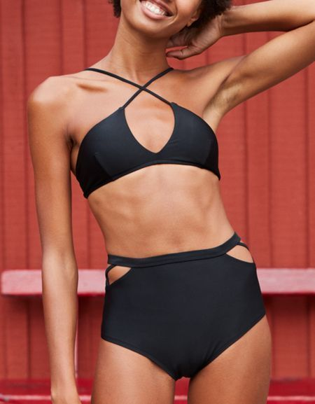 7f41c35f7b Aerie High Waisted Cheeky Bikini Bottom in 2019 | Fashion