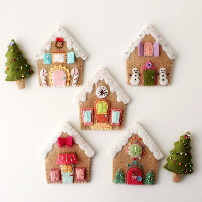Gingerbread Houses By Gingermelon Sewing Pattern Felt