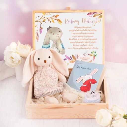 Skrzynka Na Chrzest Spij Kroliczku Dla Dziewczynki Toy Chest Teddy Bear Toys