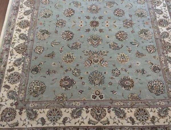 Indian Hand Tufted Rug Wool And Silk Priced To Go