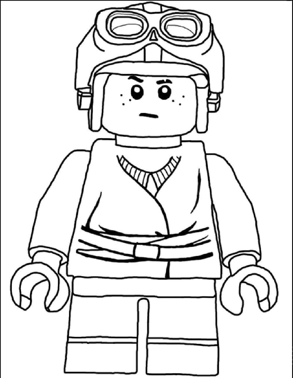Colouring sheets lego - Star Wars Lego Coloring Page