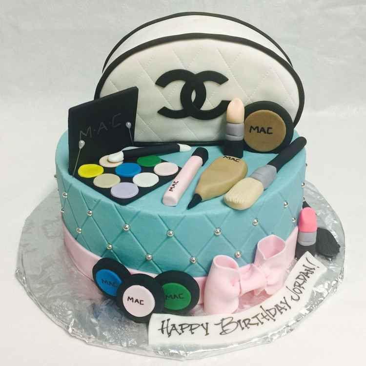 MAC Make Up and Chanel Purse Cake FB-127 MAC Make Up and Chanel Purse Confection Perfection Cakes - Online Ordering