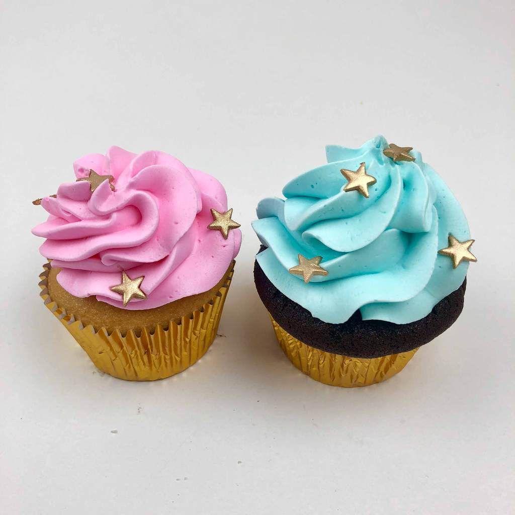 Twinkle Twinkle Little Star Cupcake Savoury Cake Gender Reveal Cupcakes Star Cupcakes