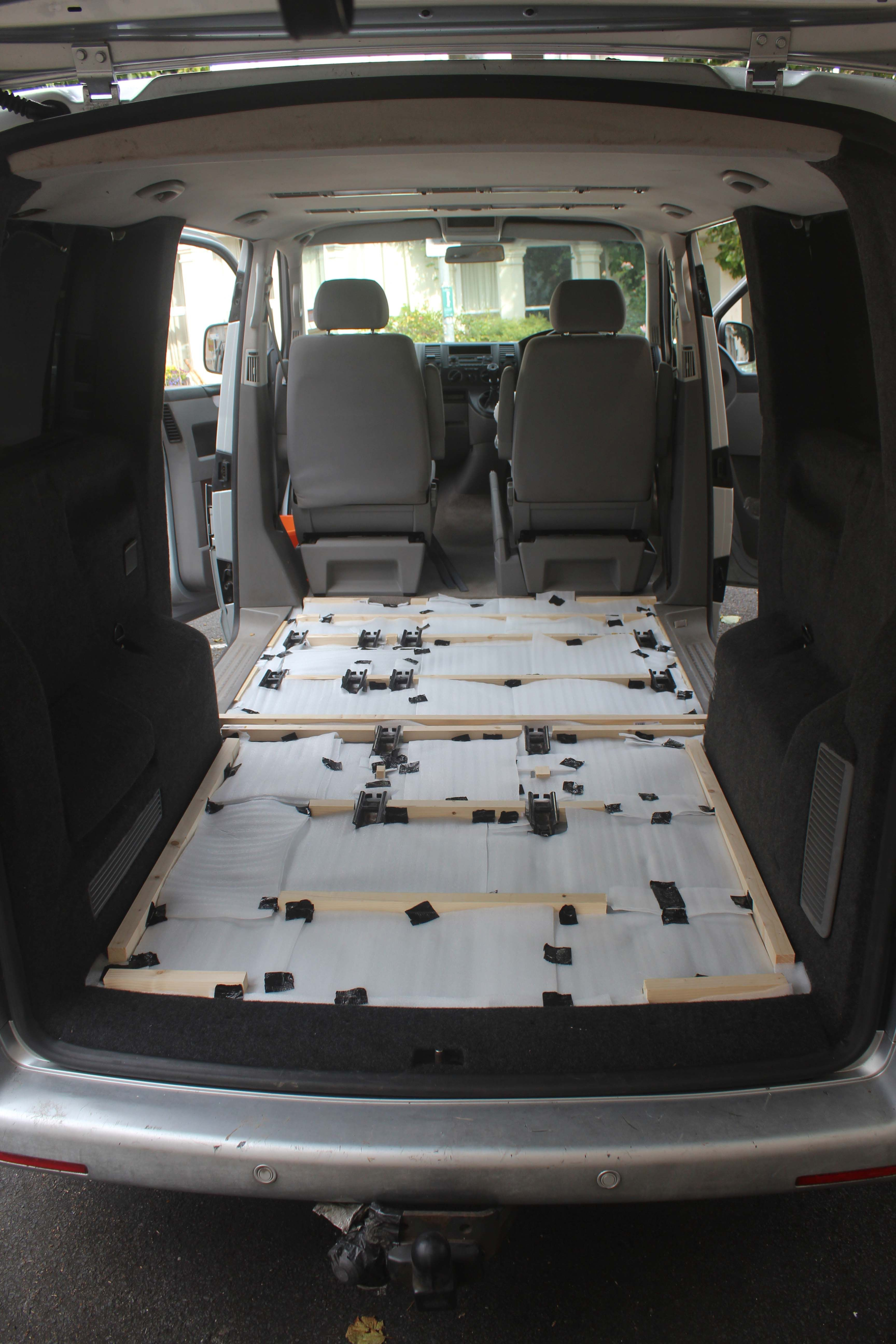 VW T5 Rear Raised Floor And Insulated