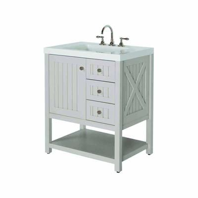 grey vanity bathroom home depot living seal harbor inch gray top alpine white custom tops lights bronze