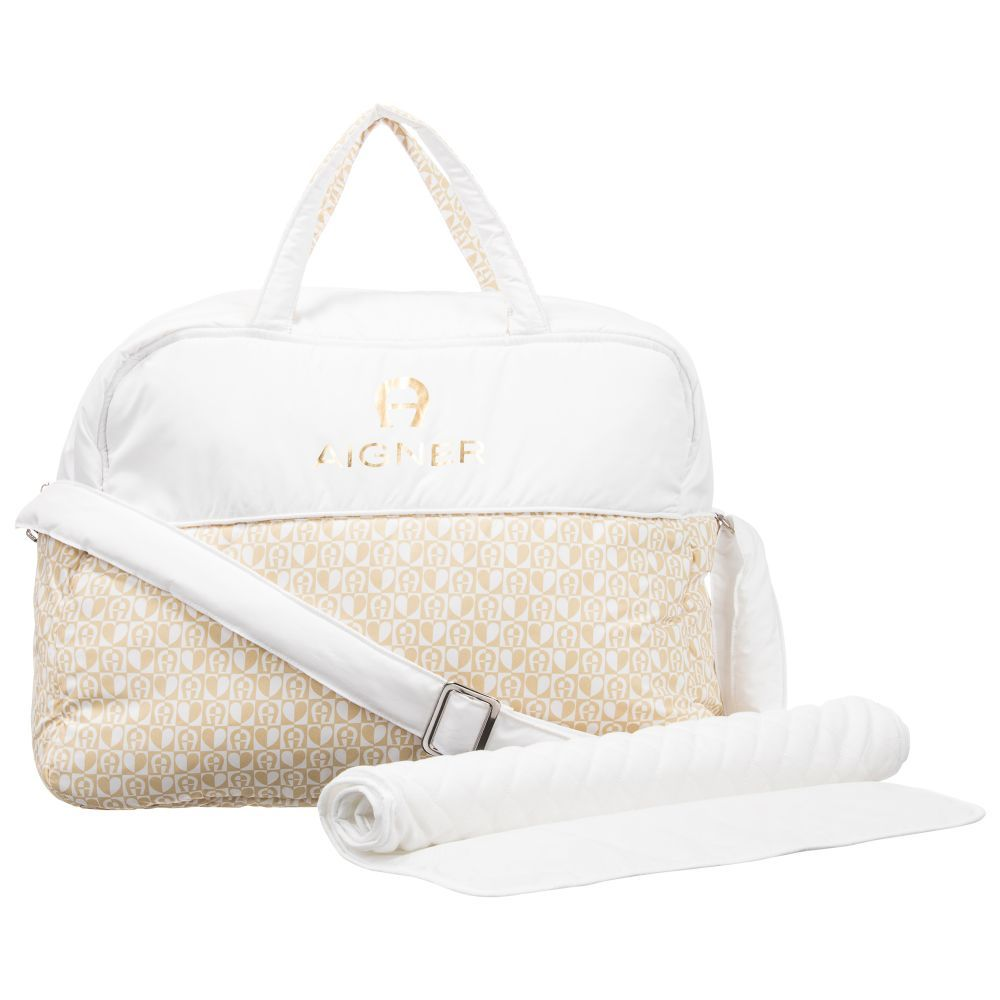 bb01cd3ede Aigner Kids White Baby Changing Bag (41cm). Shop from an exclusive  selection of designer Bags