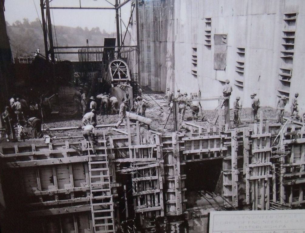 Grafton Hotel West Virginia Tygart Dam Under Construction