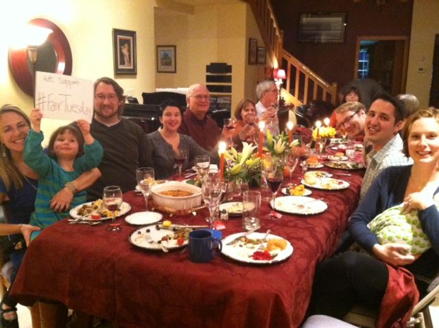 Founder, Angela Yost, and her family being #thanksful at #thanksgiving and getting ready for #FairTuesday.