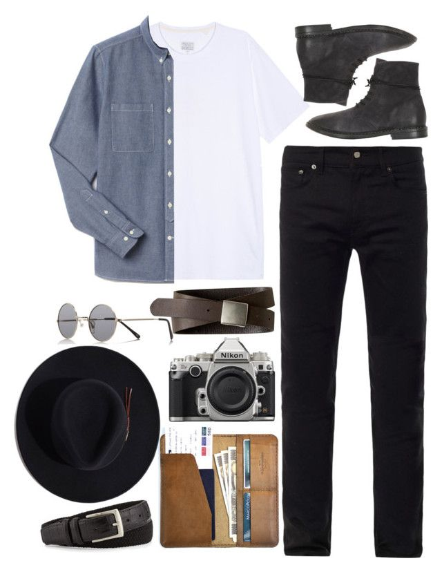 """""""Inspired by Harry."""" by nikka-phillips ❤ liked on Polyvore featuring rag & bone, Lacoste, Acne Studios, Marsèll, Banana Republic, Nikon, CO, Neiman Marcus, Stetson and River Island"""