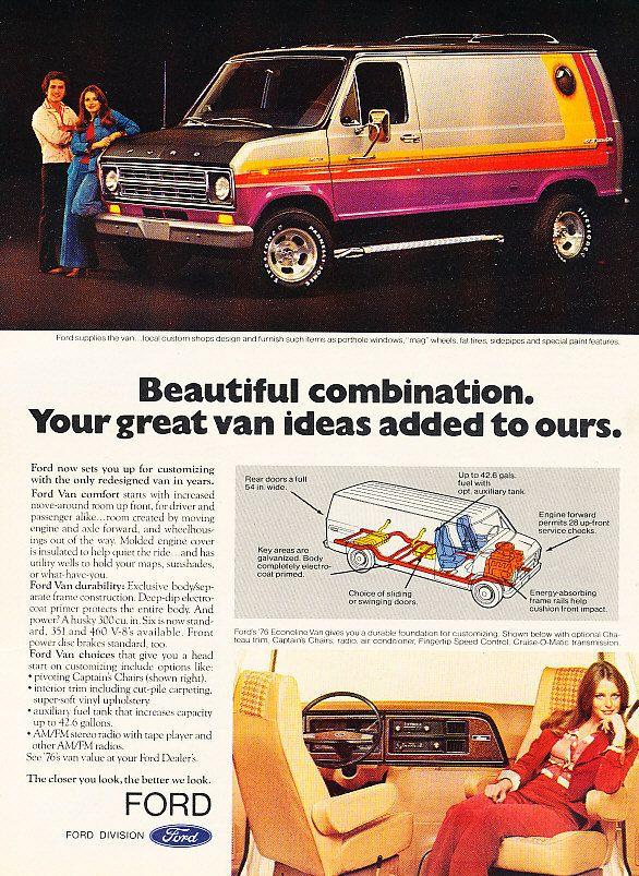 70s Custom Van Vk Custom Vans Ford Van Cool Vans