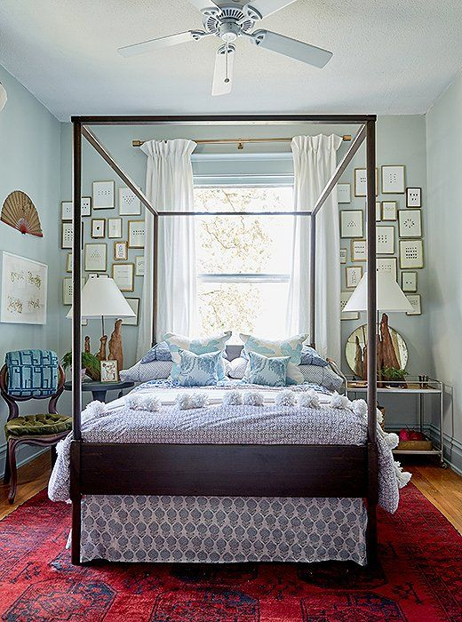 A Well Collected Home July 6, 2017 Bedrooms, Art decor and Kings lane - luxurioses bett hastens tradition und innovation