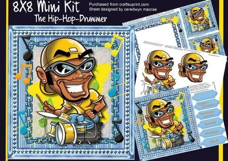 8x8 Mini Kit The Hip Hop Drummer  on Craftsuprint - Add To Basket!