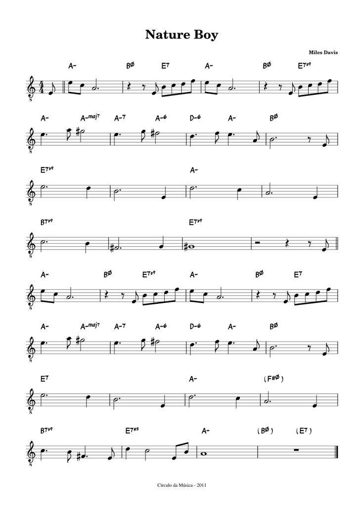 sheet music for nature boy   Nature Boy - trumpet Bb
