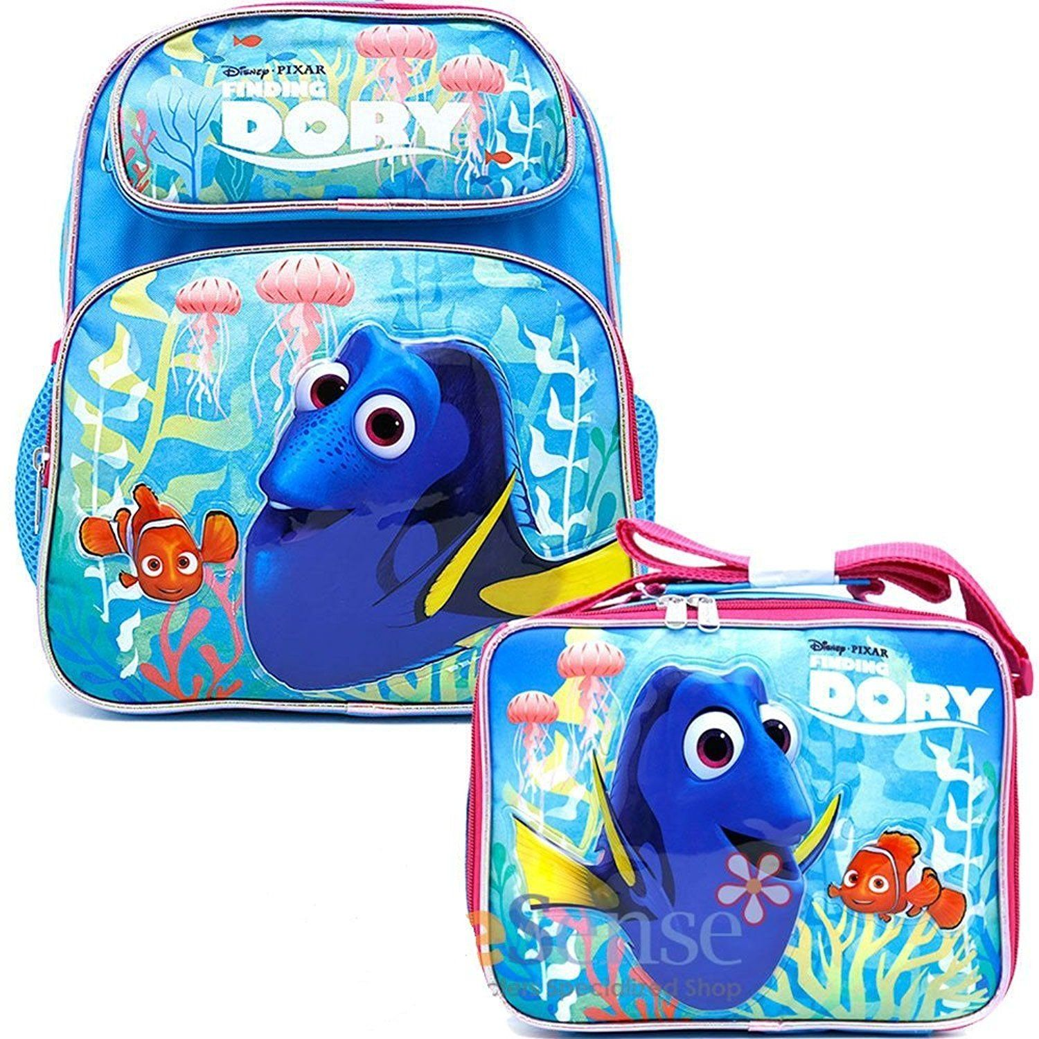 4acb0f133d Finding Dory School Backpack Medium 12  Girls Nemo Book Bag With Lunch Bag  Set     You can get more details by clicking on the image.